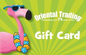 25 Oriental Trading Gift Card  FREE Mail Delivery  eBay