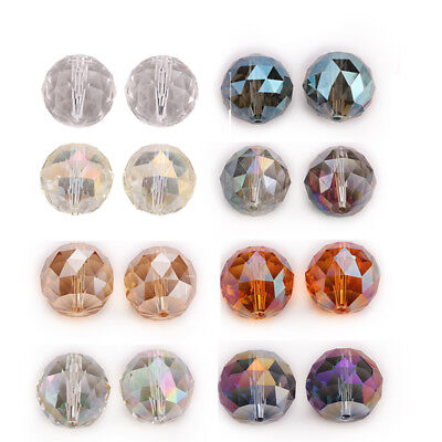 24x17mm 5pc Teardrop Faceted Glass Crystal Loose Spacer Beads DIY Jewelry Gifts
