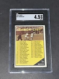 1961 Topps #17 Checklist SGC 4.5 Newly Graded & Labelled PSA BVS