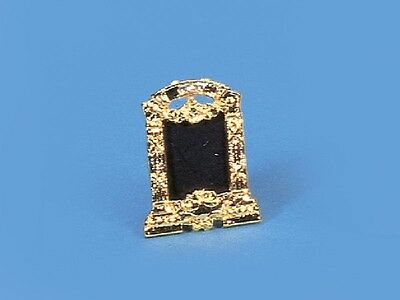LOVELY STAND ALONE SOLID BRASS PICTURE FRAME  DOLLS HOUSE  1.12 SCALE MINIATURE