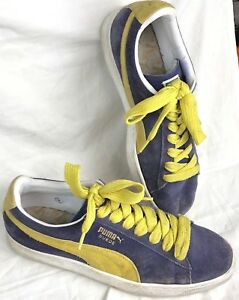 ae8cf3c6d8a3 PUMA Suede Classic Purple Sneakers Yellow Laces 11.5 US Mens UK 10.5 ...