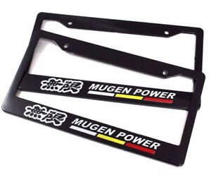 X2 Racing License Plate Tag Frame Holder For Acura Integra