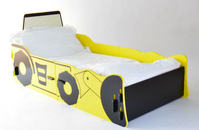 Digger Junior Bed in Yellow and Black Effect