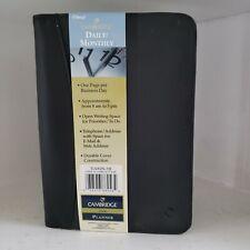 Mead Cambridge Softwear Black Daily Monthly Planner Portfolio Folder 85 X 6