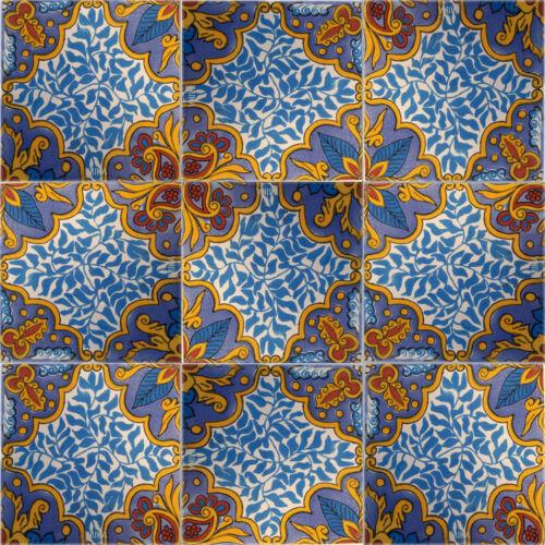 """C276-9 décoré Mexican Talavera argile 4/"""" x 4/"""" tuiles"""