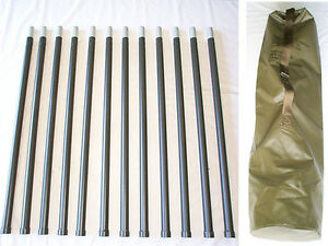 12-ea-4-ft-Rib-Aluminum-Military-Antenna-Mast-Support-Poles-NEW