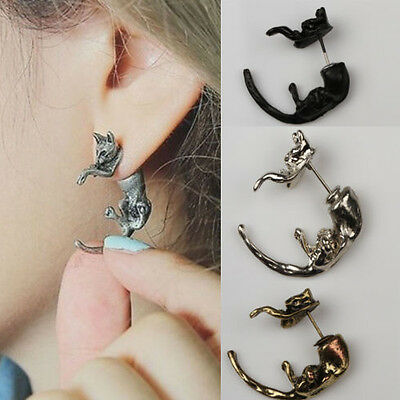Dreamed Funky Long Tail Cute Fox Small Animal Puncture Girls Boys Stud Earrings