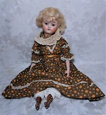 Early Antique German Kestner #168 Doll with Square Cut Teeth