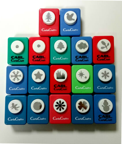 Carla Craft Small Quality Paper Craft Punches: Dove Daisy Star Christmas Tree
