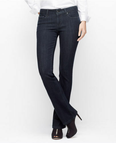 Ann Taylor - Petites 0P bluee Lazare Wash bluee Curvy Boot Cut Jeans (84)