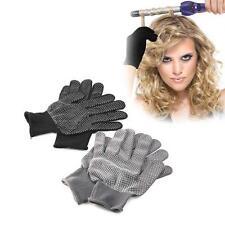 1 Pair Hair Straightener Curling Tong Hairdressing Heat Resistant Finger Gloves