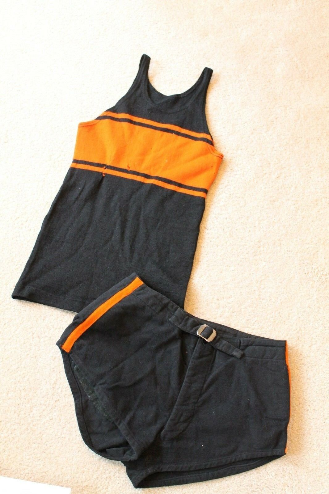 Spectacular Vintage 1920-30s Princeton Tigers Maillot de Football Uniform