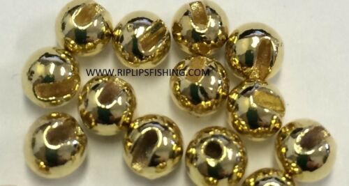 """TUNGSTEN SLOTTED FLY TYING BEADS GOLD 2.0 MM 5//64 /"""" 100 COUNT"""