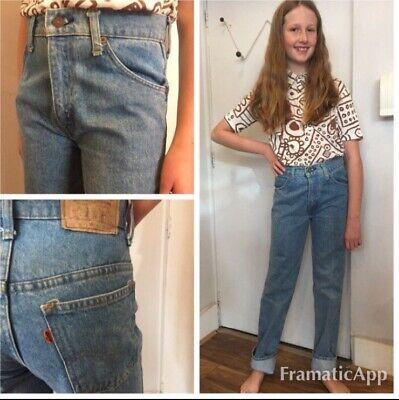 Imparziale Vintage Deadstock Kids Levis Jeans Arancione Scheda Età 11 70s Stile-mostra Il Titolo Originale