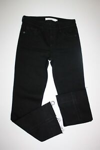 Hidden-Jeans-Women-039-s-Black-Cropped-Crop-Frayed-Ankles-Distressed-Boho-Size-25