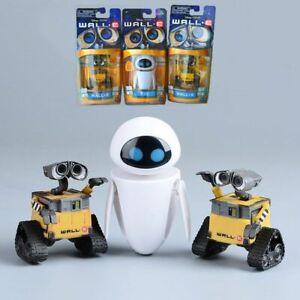 2 Pcs Cartoon Movie Wall E Toy Walle Eve Figure Toys Wall-E Robot Figures Dolls