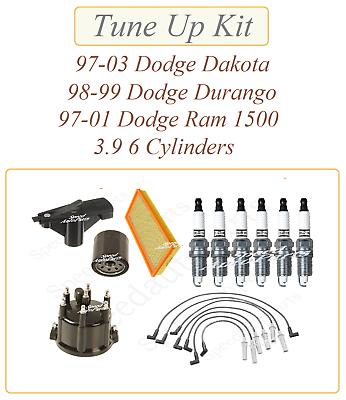 Wires Cap Rotor Platinum Plugs for 97-03 Dodge Dakota 3.9L New Spark Plug Ign
