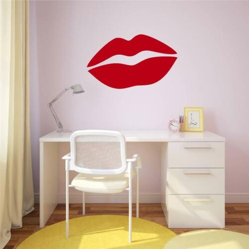 Lips Kisses Valentines Love Decor Vinyl Decal Wall Sticker Words Letters Teen