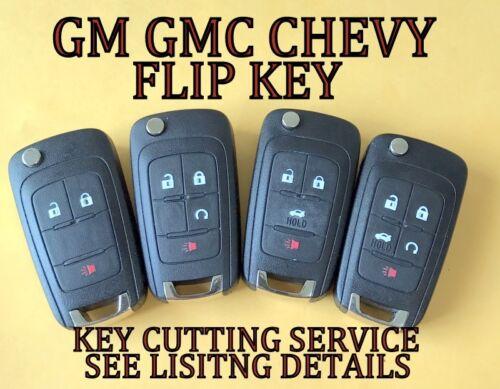 OEM GM 13-18 BUICK ENCORE FLIP KEY KEYLESS REMOTE START FOB TRANSMITTER 13585814