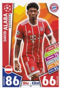 Topps Match Attax EXTRA Ligue des Champions 19//20 PP 12 Power Play Alaba