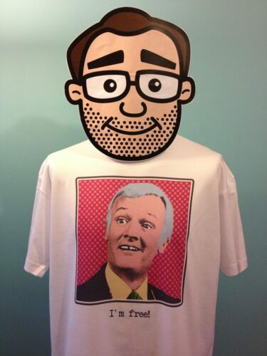 John Inman Free Pop Art Mr Humphries Are You Being Served? White T-Shirt