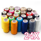 Hot 1X 24 Colors Sewing Pure Cotton Thread DIY Sewing  Thread Household Portable
