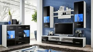 Image Is Loading TV Set Living Room Unit Cabinet Furniture Wall