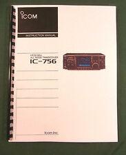 Icom IC-756 Instruction Manual - Premium Card Stock & Protective Covers!