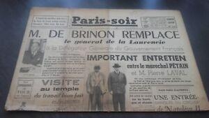 JOURNAUX-PARIS-SOIR-N-181-JEUDI-19-DECEMBRE-1940-ABE