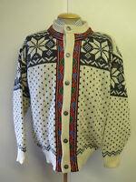 Traditional Vintage Norwegian Nordic Patterned Cardigan Size XL UK 18/20