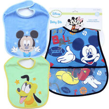Disney Baby Mickey Mouse Friends Bibs 3pc Set for Boy 2 Terry Bibs 1 Waterproof