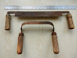 Set-2-pc-Antique-Wood-Draw-Shave-Woodworking-Knife-Draw-Hand-Made-Forged-Vintage