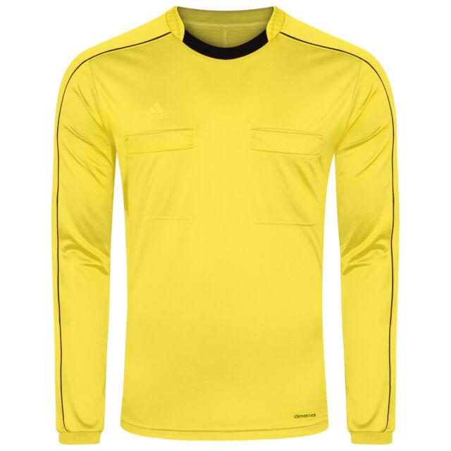Fußball adidas Referee 16 Trikot langarm Gelb Schwarz