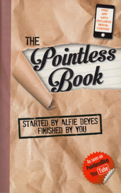 The Pointless Book Started by Alfie Deyes, Finished by You by Alfie Deyes NEW