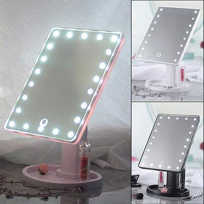 22 Led Touch Screen Makeup Mirror, Makeup Mirror Light Up