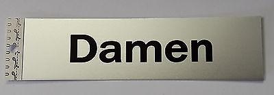 """Clever Hinweisschild """"damen"""" 165 X 45 Mm - Metall - Selbstklebend"""