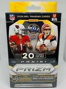 2020-Panini-Prizm-Football-Hanger-Box-Red-Ice-Walmart-NFL-20-Cards-New-Sealed