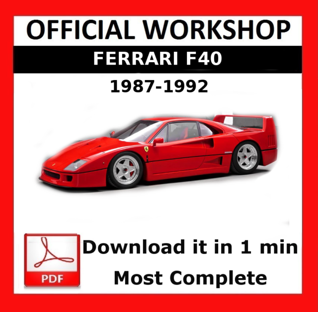 Sensational Official Workshop Manual Service Repair Ferrari F40 1987 1992 For Wiring Digital Resources Ntnesshebarightsorg