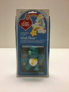 Wish Bear, Care Bears Vintage Poseable Figure, Mint In Box By Kenner