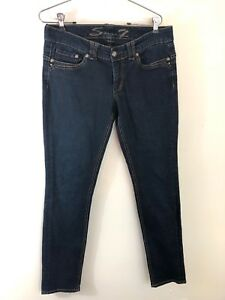 Womens Seven 7 Jeans Size 12 Dark Wash Stretch Denim Skinny