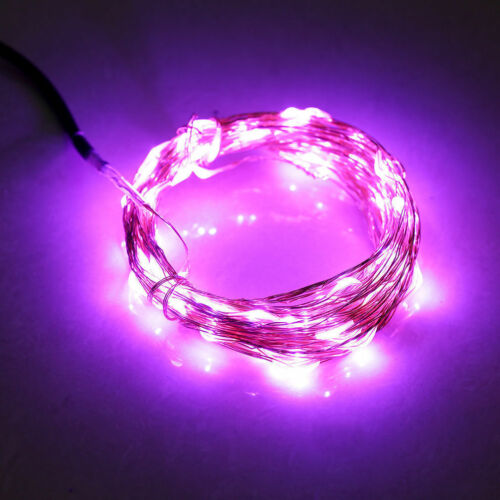 Battery//Solar//Electric Silver Copper Wire 20-400 LED Xmas String Fairy Light HOT