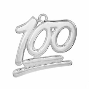 10 Number 8 charms antique silver tone