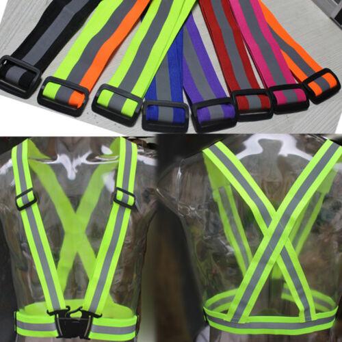 Security Safety Reflective Vest Belt Stripe Straps Night Running Jogging Biking