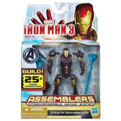 Marvel Avengers Figure-Mighty Battlers Stealth Tech Armor Iron Man