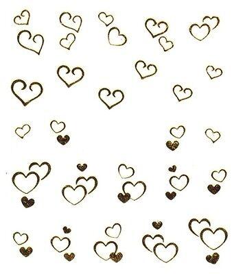 One Stroke Sticker,Gold, Herz ,Tattoo, Aufkleber  Nr.1356