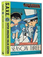 Case Closed . Season Three . 3. Staffel . Detektiv Conan . Anime . 4 DVD . NEU