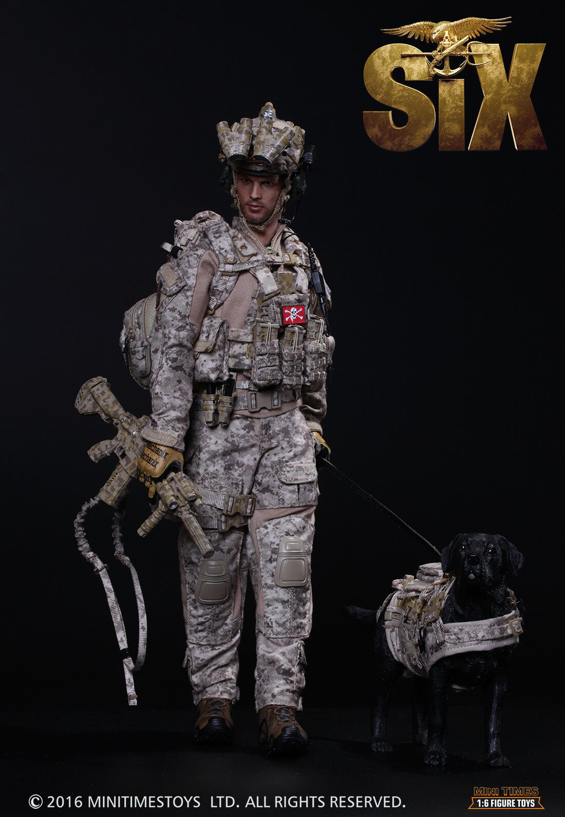 Mini Times 1 6 Scale 12  US Navy Seal Team 6 Devgru Action Figure with Dog M006
