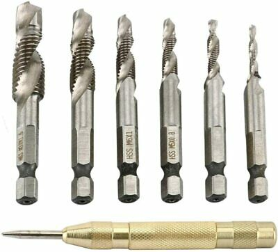 8MILELAKE 6pcs 9 inches Auger Drill Bit Tool Set