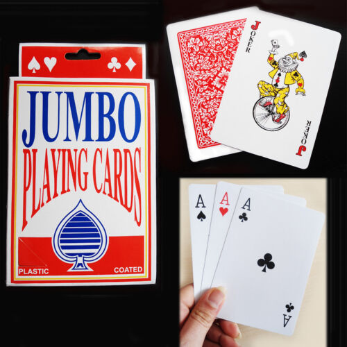 Giant Jumbo Playing Cards Family Pack Card Party Games Poker Deck Magic Trick 52