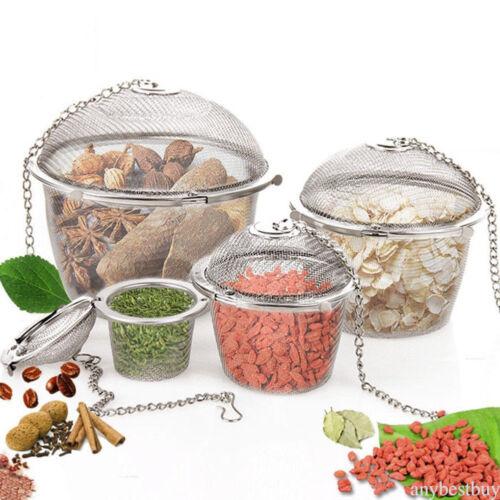 Stainless Steel Ball Tea Strainer Infuser Mesh Filter Loose Leaf Spice Reusable
